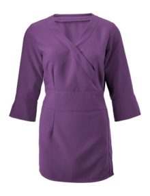 Alexandra women's 3/4 sleeve wrap tunic