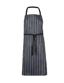 Alexandra Essential butcher stripe bib apron