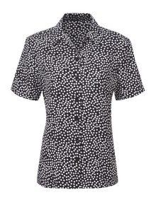 Alexandra diamond print blouse