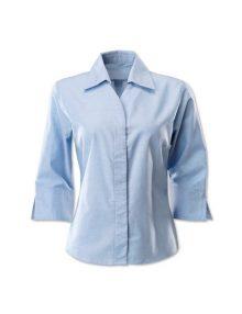 Alexandra women's oxford ¾ sleeved shirt
