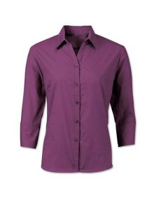 Alexandra women's woven colour ¾ sleeved shirt