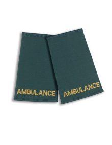 Alexandra ambulance epaulette sliders